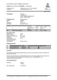 GUTACHTEN zur ABE Nr. 47649 nach §22 StVZO Anlage 15 zum ...