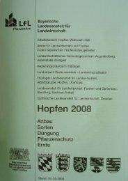 Grünes Heft 2008 - Bayerische Landesanstalt für Landwirtschaft ...
