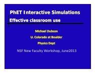 PhET Interactive Simulations:Effective Classroom Use - Michael ...