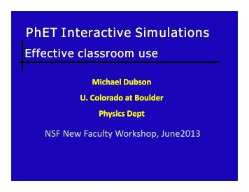 PhET Interactive Simulations:Effective Classroom Use - Michael ...