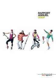 RAPPORT ANNUEL 2009 - Groupe Go Sport