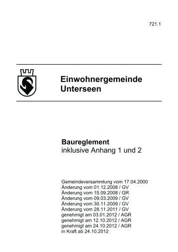 Einwohnergemeinde Unterseen Baureglement