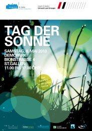 Tag der Sonne - Jugendelektronikzentrum St. Gallen