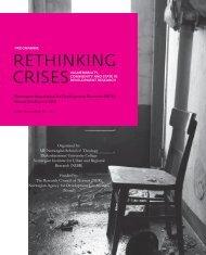 RETHINKING CRISES - NFU Conference 2010
