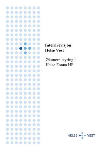 Internrevisjon Helse Vest Økonomistyring i Helse Fonna HF