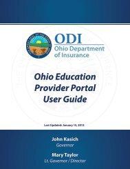 Ohio Education Provider Portal User Guide - Ohio Department of ...