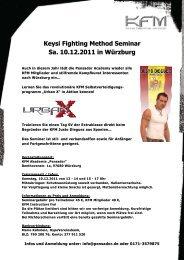 Keysi Fighting Method Seminar Sa. 10.12.2011 ... - Budo Sport Report