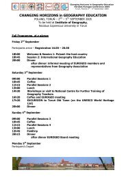 Programme - HERODOT Network for Geography in Higher Education