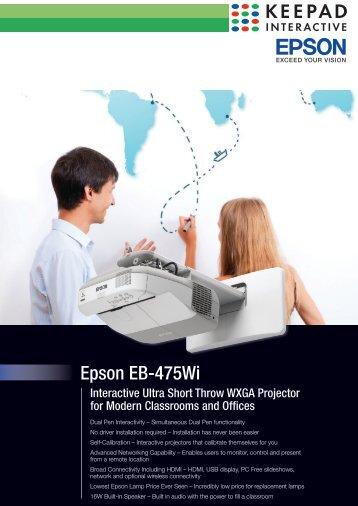 Epson EB-475Wi - Keepad Interactive