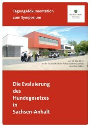 Die Evaluierung des Hundegesetzes in Sachsen-Anhalt