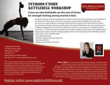 Register Online - Durham Health Club | Kettlebell Personal Training