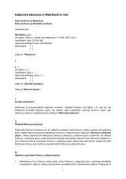 Rámcová smlouva o přepravě plynu - Net4Gas