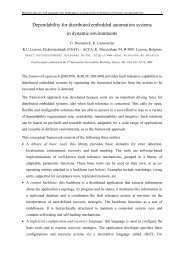 Dependability for distributed embedded automation systems ... - Cert