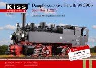 Dampflokomotive Harz Br 99 5906 - Kiss Modellbahnen