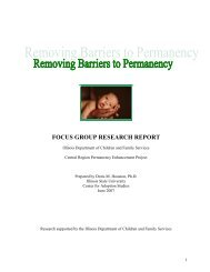 focus group research report - Center for Adoption Studies - Illinois ...
