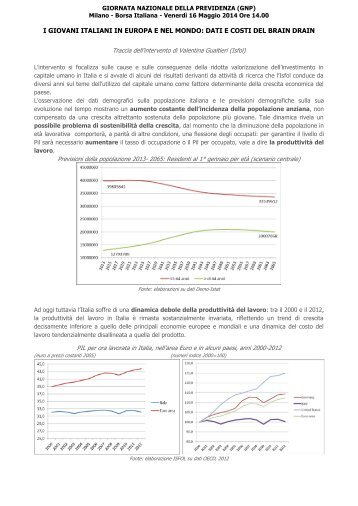 ISFOL_Gualtieri_ I giovani italiani in Europa e nel mondo dati e costi del brain drain