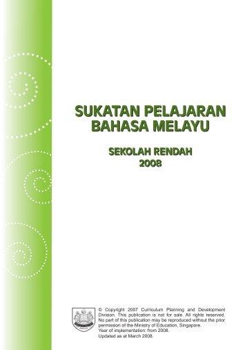 sukatan pelajaran bahasa melayu - Ministry of Education