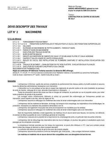 Notice Descriptive Des Travaux - Maison Architecte 3C