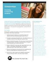 Scholarships - The Denver Foundation