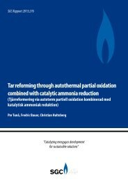 Tar reforming through autothermal partial oxidation combined ... - SGC