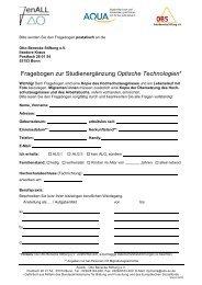 Fragebogen zur Studienergänzung Optische Technologien* - JenALL
