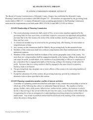 KLAMATH COUNTY, OREGON PLANNING COMMISSION ...
