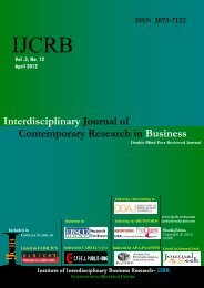 Interdisciplinary Journal of Contemporary Research in Business