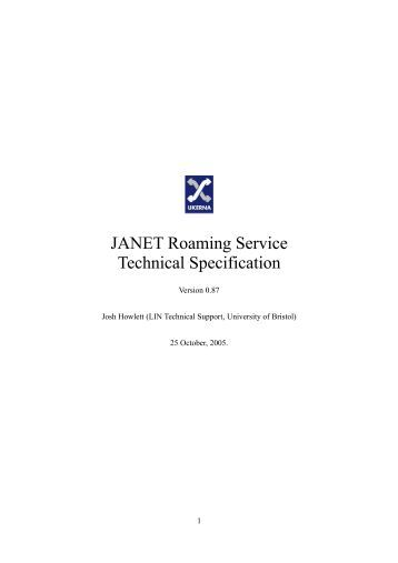 service specification