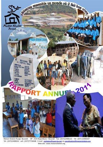 Rapport annuel 2011 - Un avenir pour les enfants au Burundi