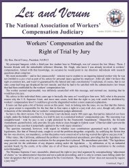 February 2013 - National Association of Workers' Compensation ...