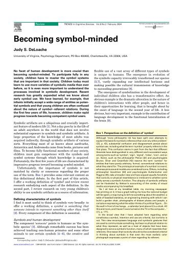 Becoming symbol-minded - Faculty Web Sites at the University of ...