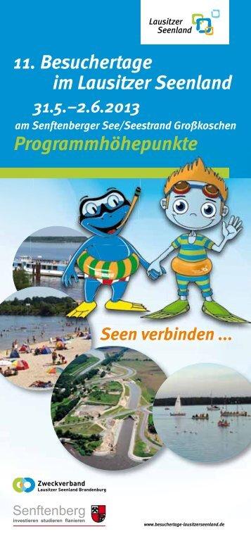 11. Besuchertage im Lausitzer Seenland Programmhöhepunkte