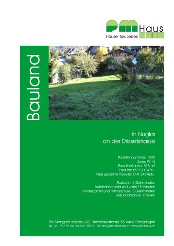 Verkaufsdokumentation - PM Mangold Holzbau AG