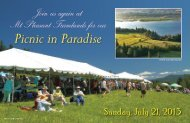 Picnic in Paradise - Friends of the Columbia Gorge