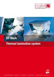 ST-Mark Thermal lamination system