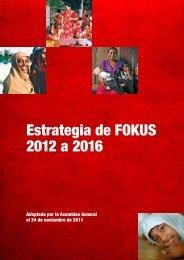 Estrategia de FOKUS 2012 a 2016