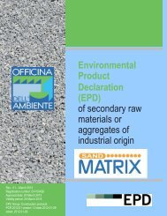 EPD Sand Matrix - The International EPD® System