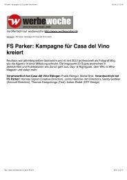 FS Parker: Kampagne für Casa del Vino kreiert - Remo Neuhaus ...