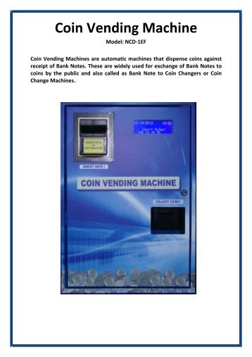 Coin Vending Machine