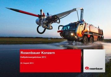 Highlights 1. Halbjahr 2013 - Rosenbauer International AG