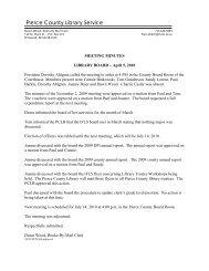 Library Board - Pierce County