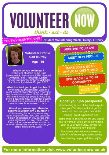 Derry~Londonderry - Volunteer Now