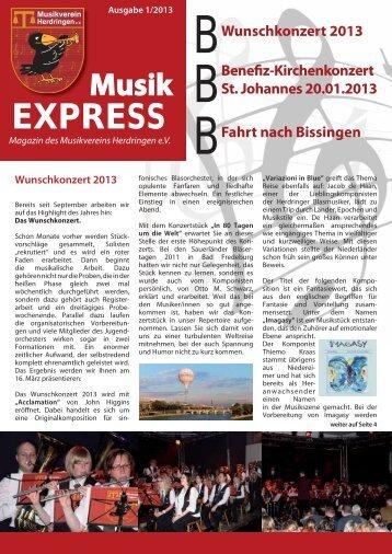 Magazin MVH (PDF / 4.0 MB) - Musikverein Herdringen