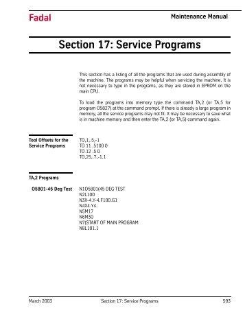 Section 17: Service Programs - FadalCNC.com