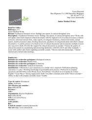 Focus Research Rue d'Egmont 11 à 1000 Bruxelles (Belgique) Tél ...