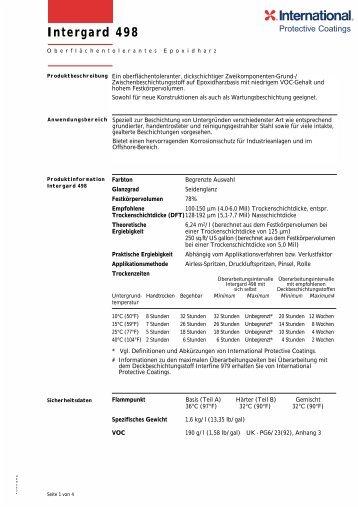 Intergard 498 - International Paint Protective Coatings