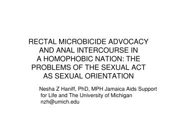 rectal microbicide advocacy and anal intercourse in a homophobic ...