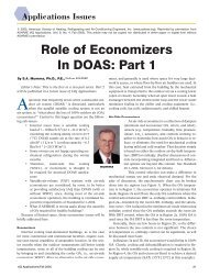 Role of Economizers In DOAS: Part 1 - DOAS - Penn State University