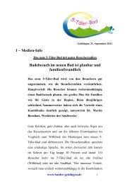 Das 5-Täler-Bad mit sehr guten Besucherzahlen - Barbarossa ...