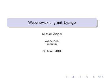 Webentwicklung mit Django - webdevFulda